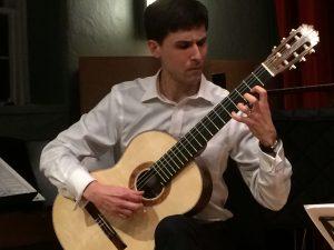 Classical guitarist, Devin Ulibarri, plays guitar